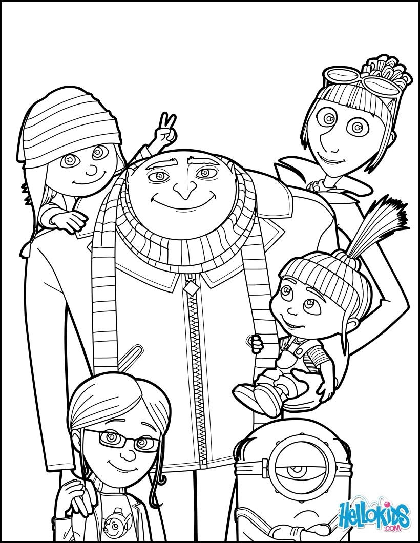 despicable me 3 coloring pages - despicable me 3 gru