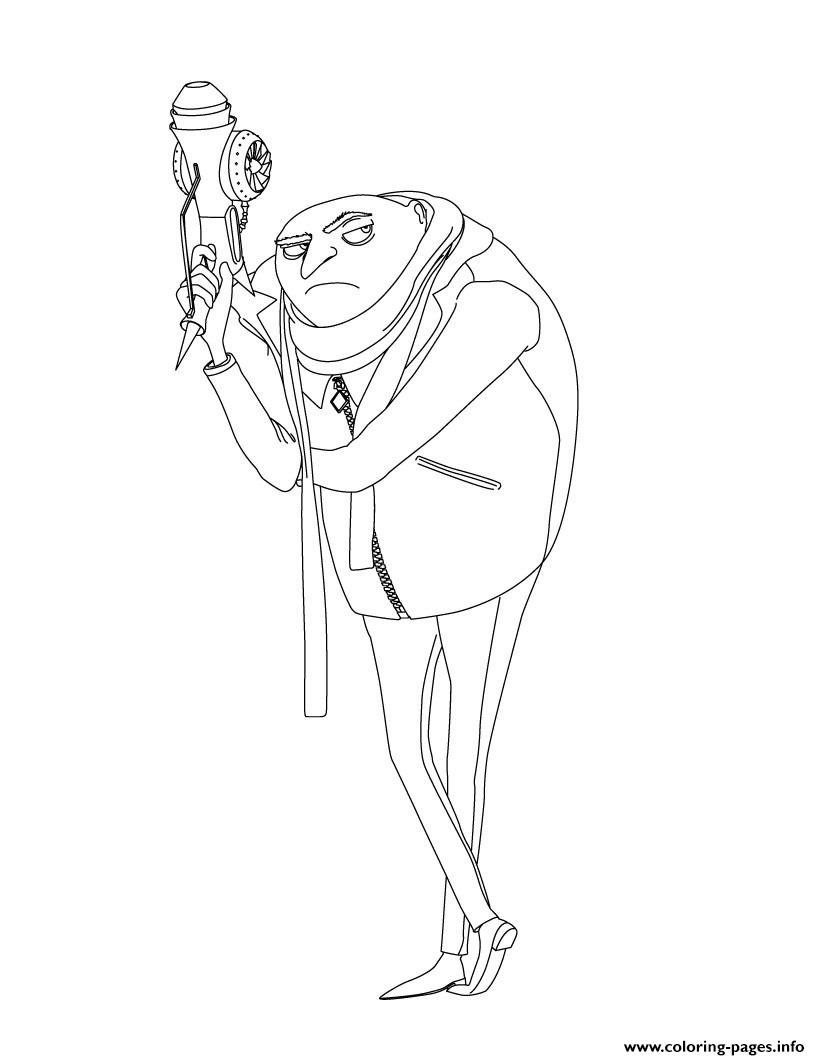 despicable me 3 coloring pages - despicable me 3 gru printable coloring pages book