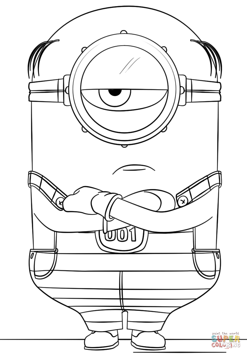despicable me 3 coloring pages - minion coloring pages