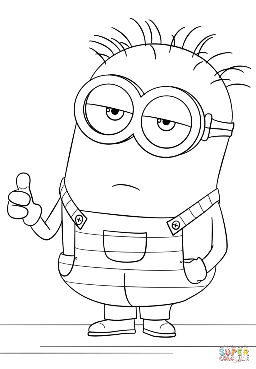 despicable me 3 coloring pages - minion from despicable me 3