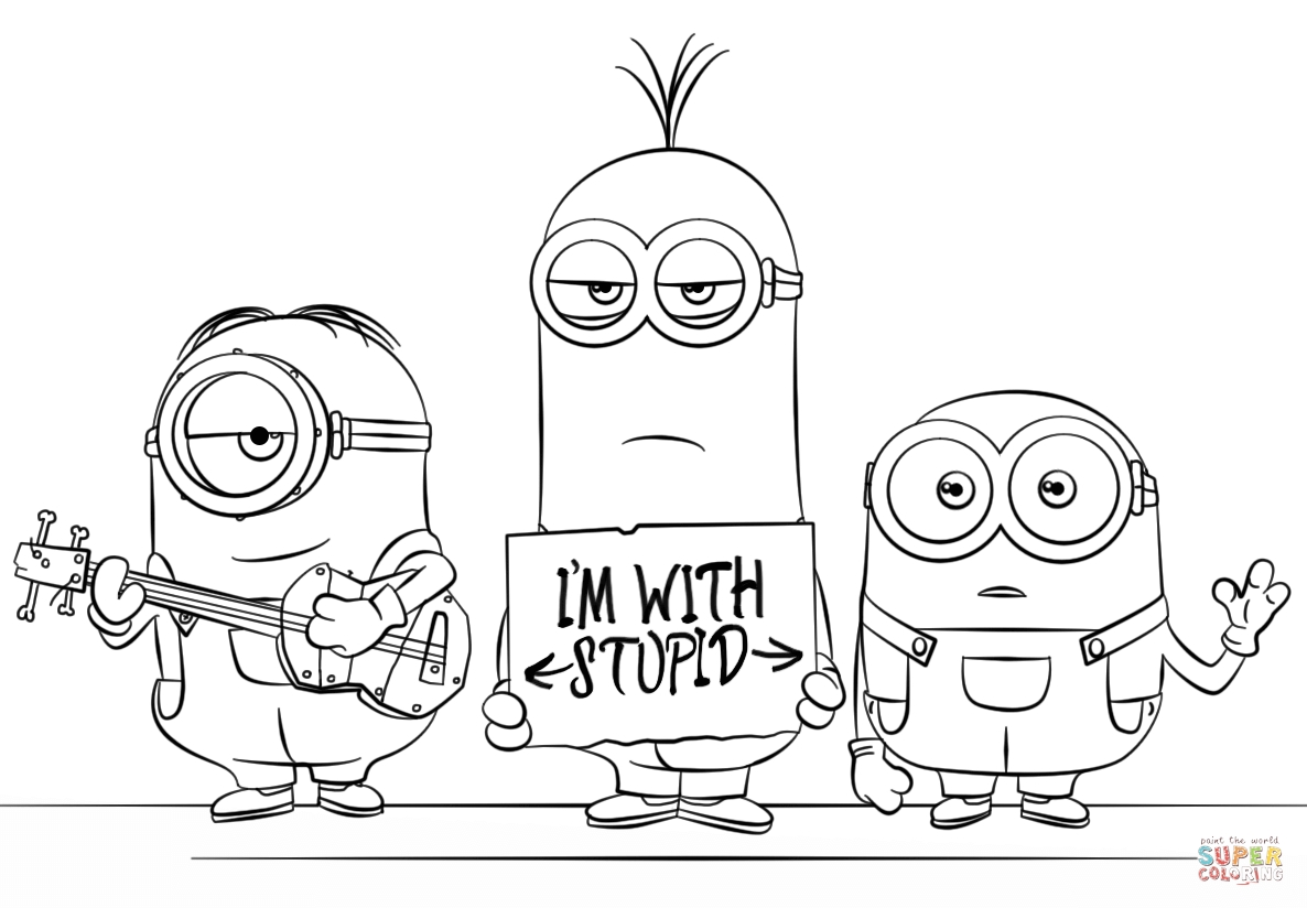 despicable me 3 coloring pages - minions from despicable me 3