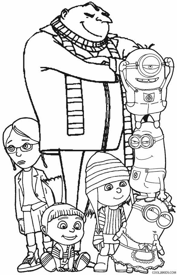 despicable me 3 coloring pages - despicable me coloring pages