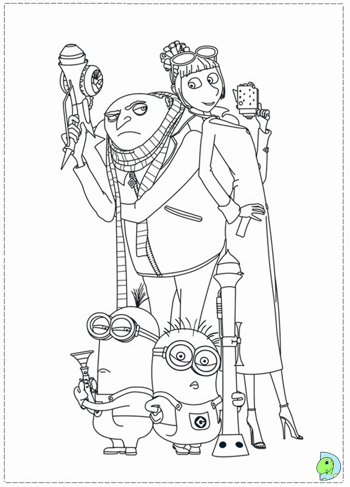 despicable me coloring pages -