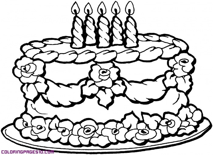 dessert coloring pages - 7