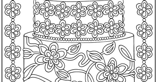 dessert coloring pages -