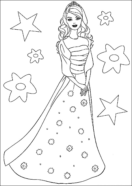 dessert coloring pages - disegni da colorare barbie principessa bella 4775