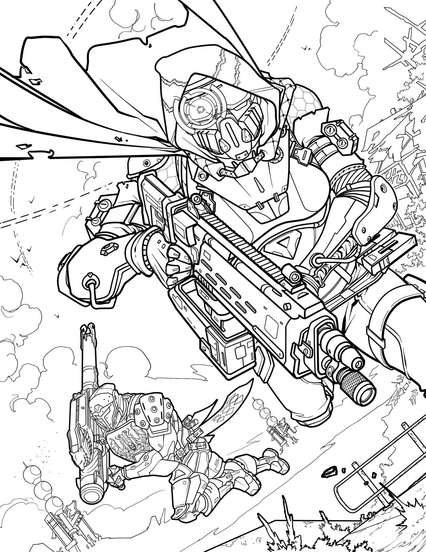 destiny coloring pages - destiny 2 un cahier a colorier officiel bientot disponible