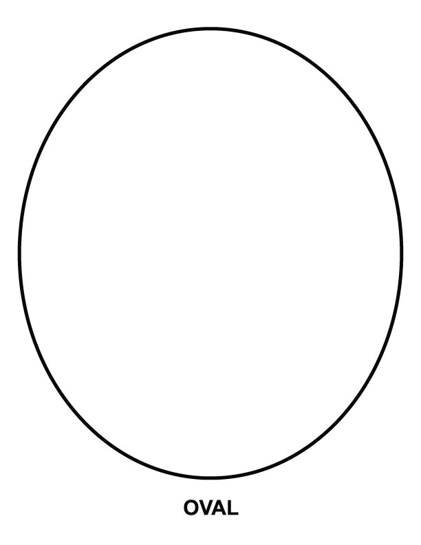 diamond coloring page - oval coloring page1