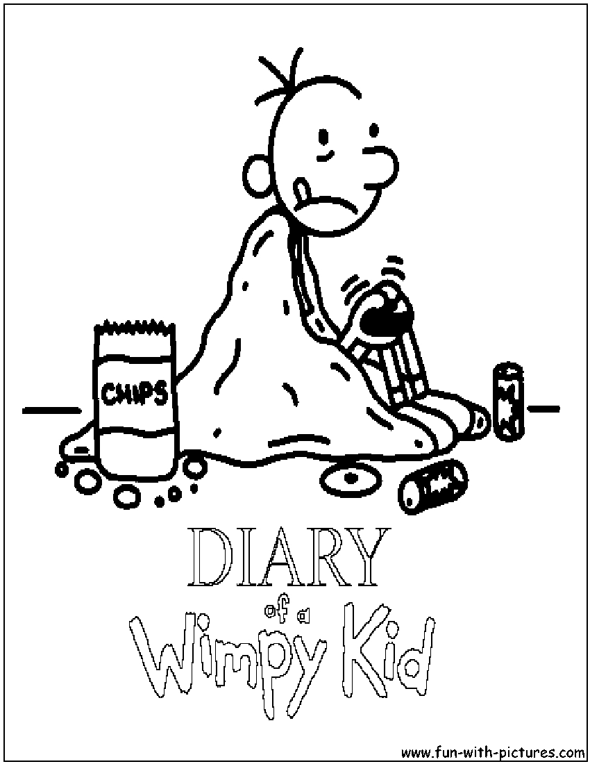 Diary Of A Wimpy Kid Coloring Pages - Diary A Wimpy Kid Coloring Page