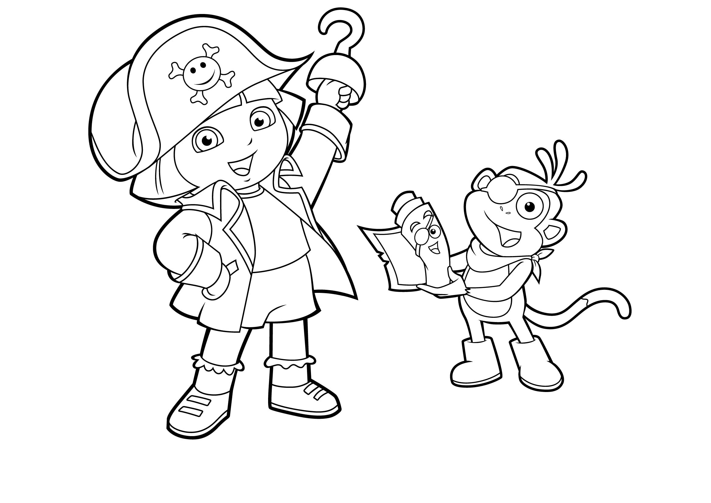 diego coloring pages - dora aventureira pirata