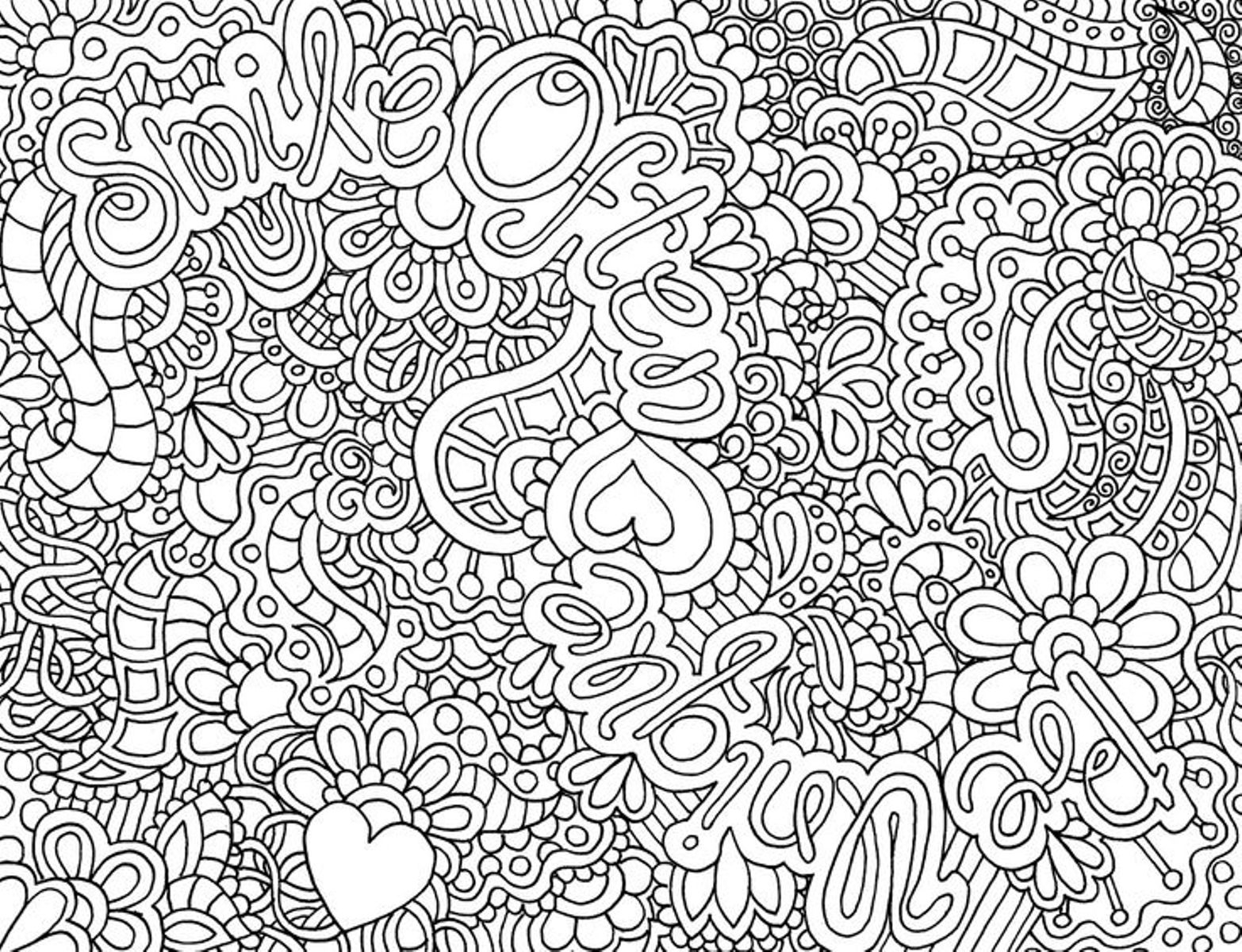Difficult Coloring Pages - Coloring Pages Of Flowers for Teenagers Difficult
