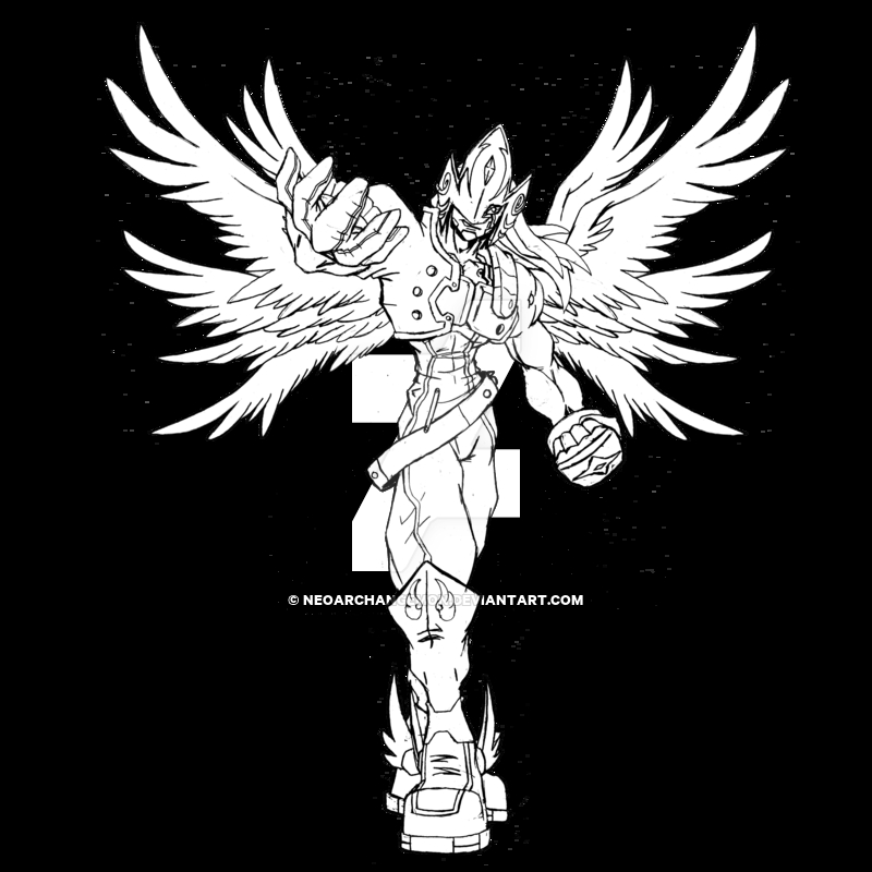 digimon coloring pages - Rise Lucemon
