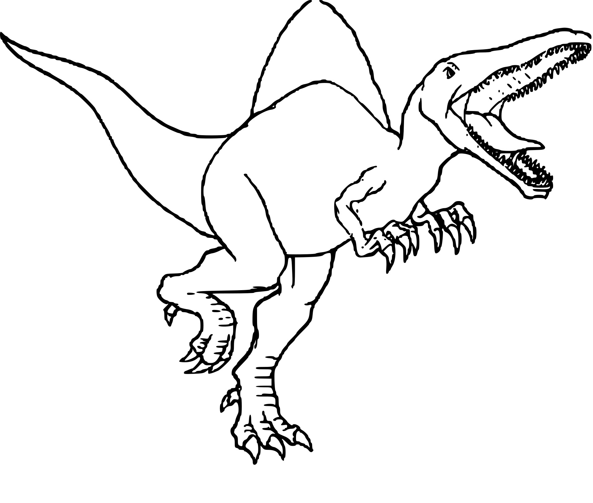 20 dinosaur coloring pages pictures free coloring pages for Dinosaur coloring pages spinosaurus