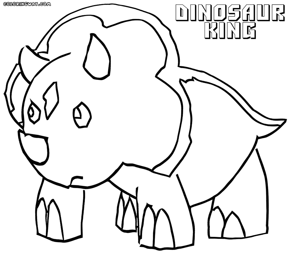 dinosaur king coloring pages - the dinosaur king coloring pages