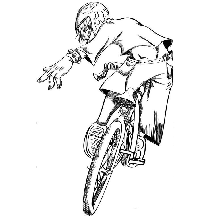 dirt bike coloring pages - coloriage bmx race