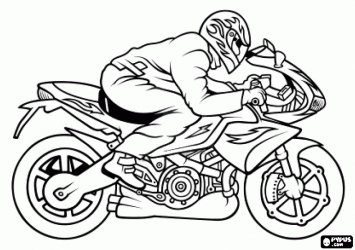 dirt bike coloring pages - desenhos de motos para colorir