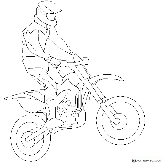 dirt bike coloring pages - motocross colorear salto moto freestyle