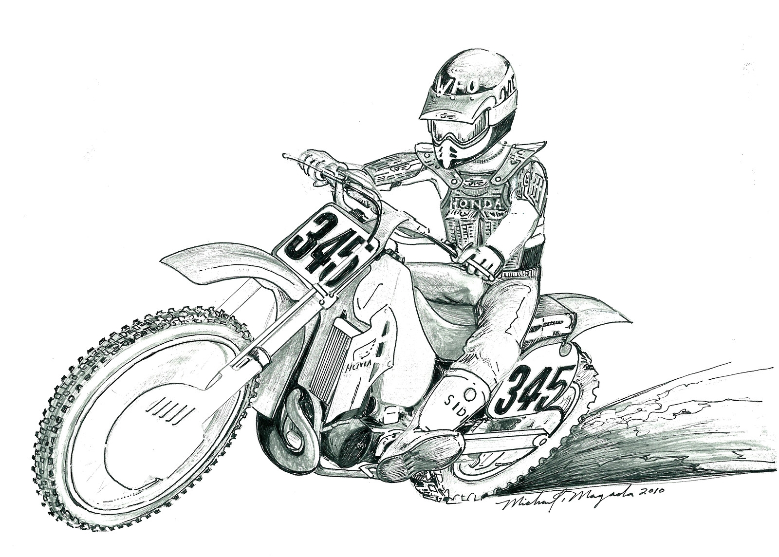 dirt bike coloring pages - motocross helmet drawing