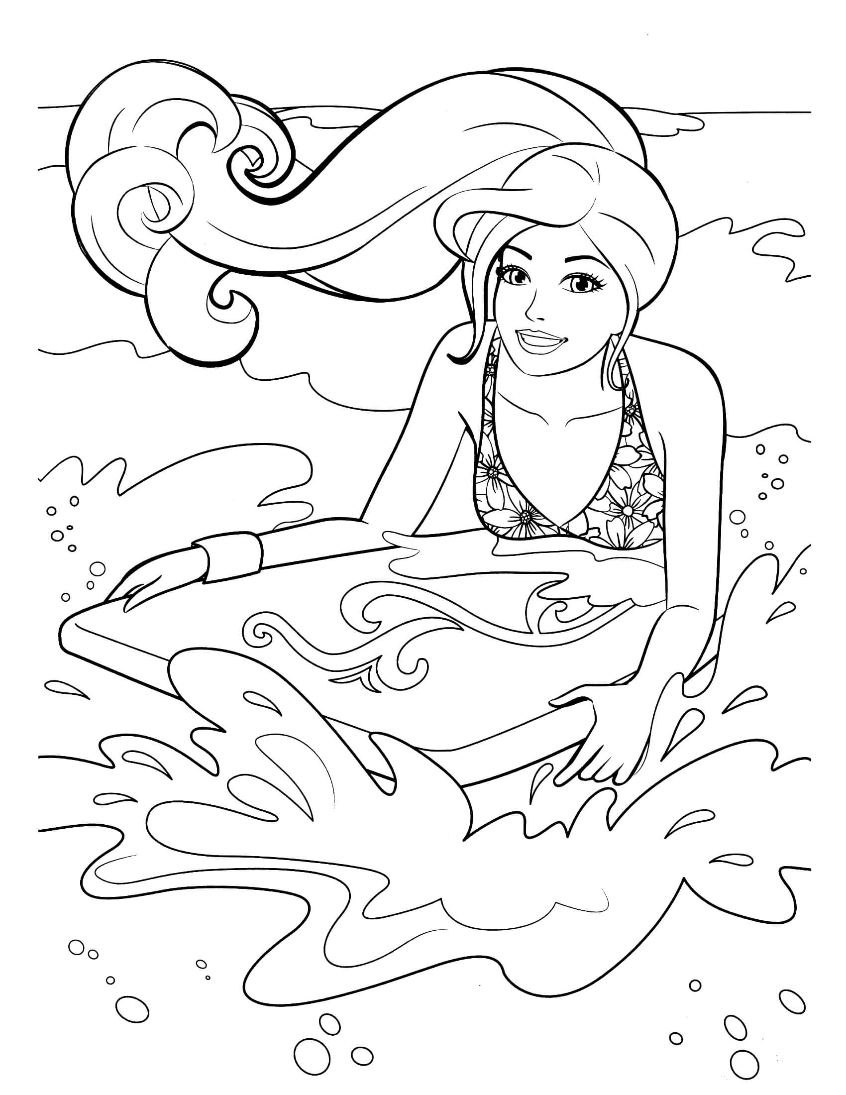 disney cars coloring pages - barbie coloring page 23