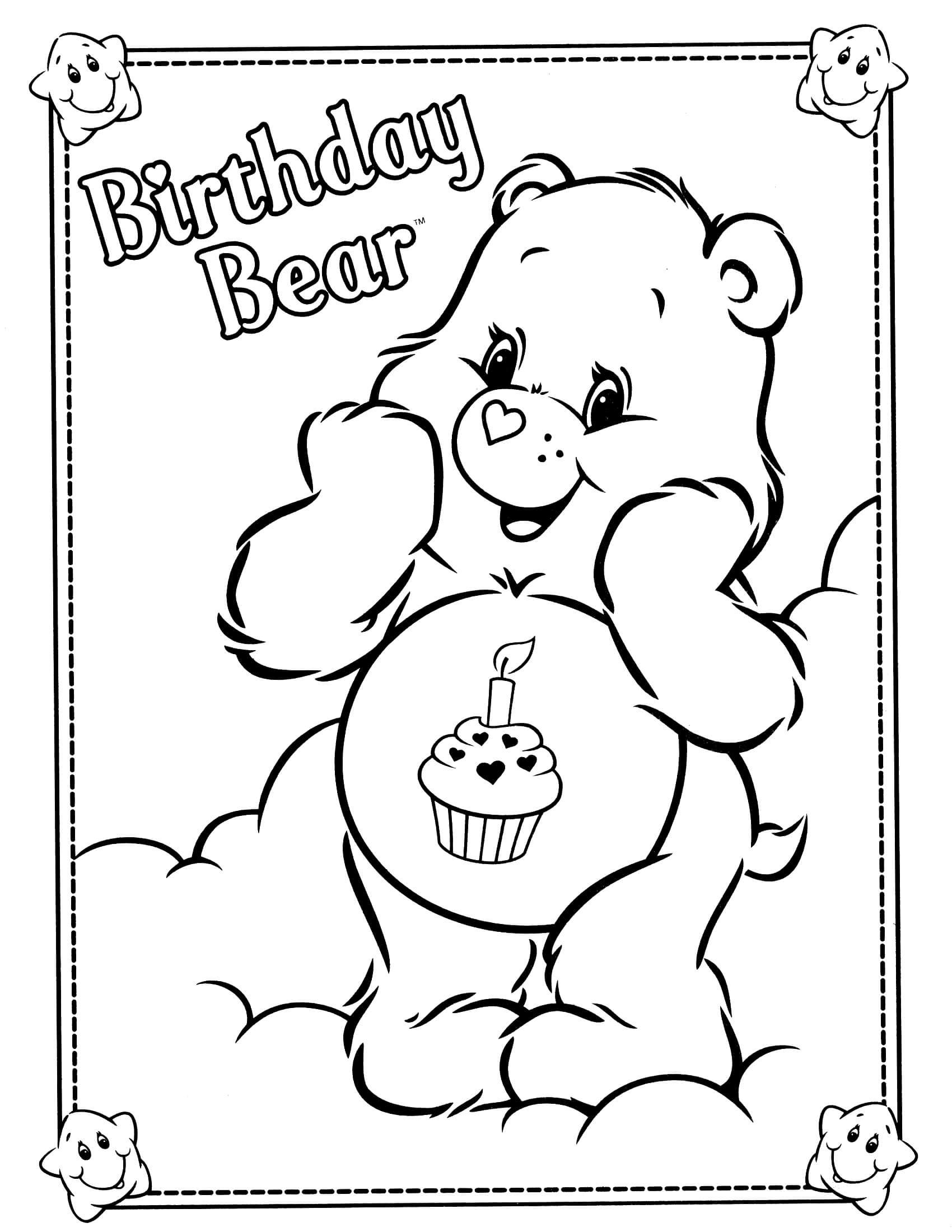 disney cars coloring pages - care bears coloring page 33