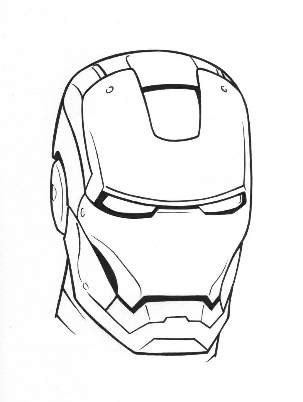 disney cars coloring pages - masque iron man