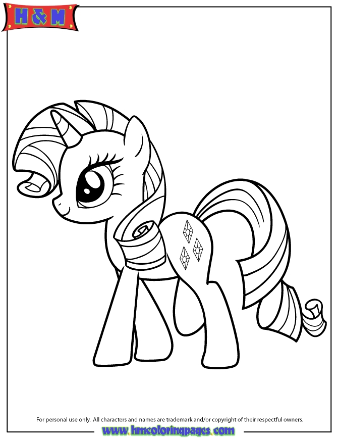 disney cars coloring pages - my little pony coloring pages rarity