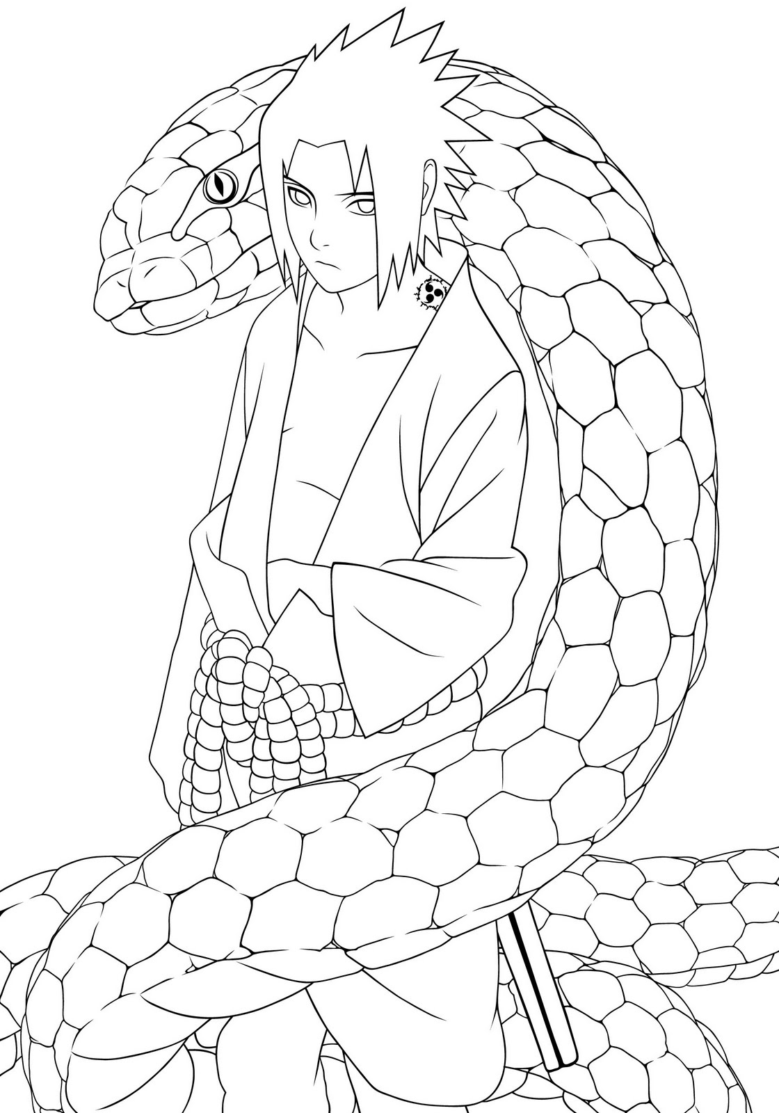 disney characters coloring pages - naruto coloring pages