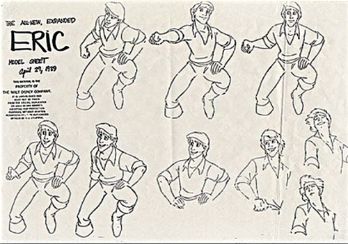 disney characters coloring pages - walt disney sketches prince eric photo