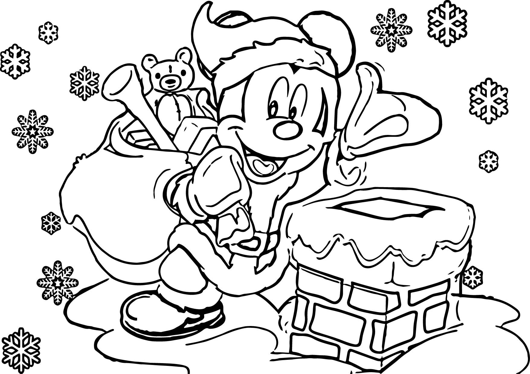 disney coloring book pages - disney christmas coloring page