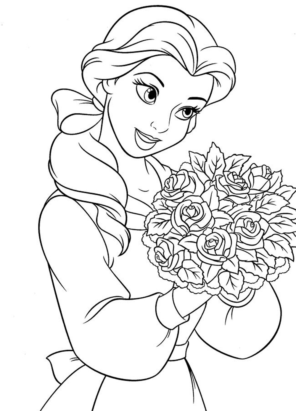 disney coloring book pages - disney princess coloring pages