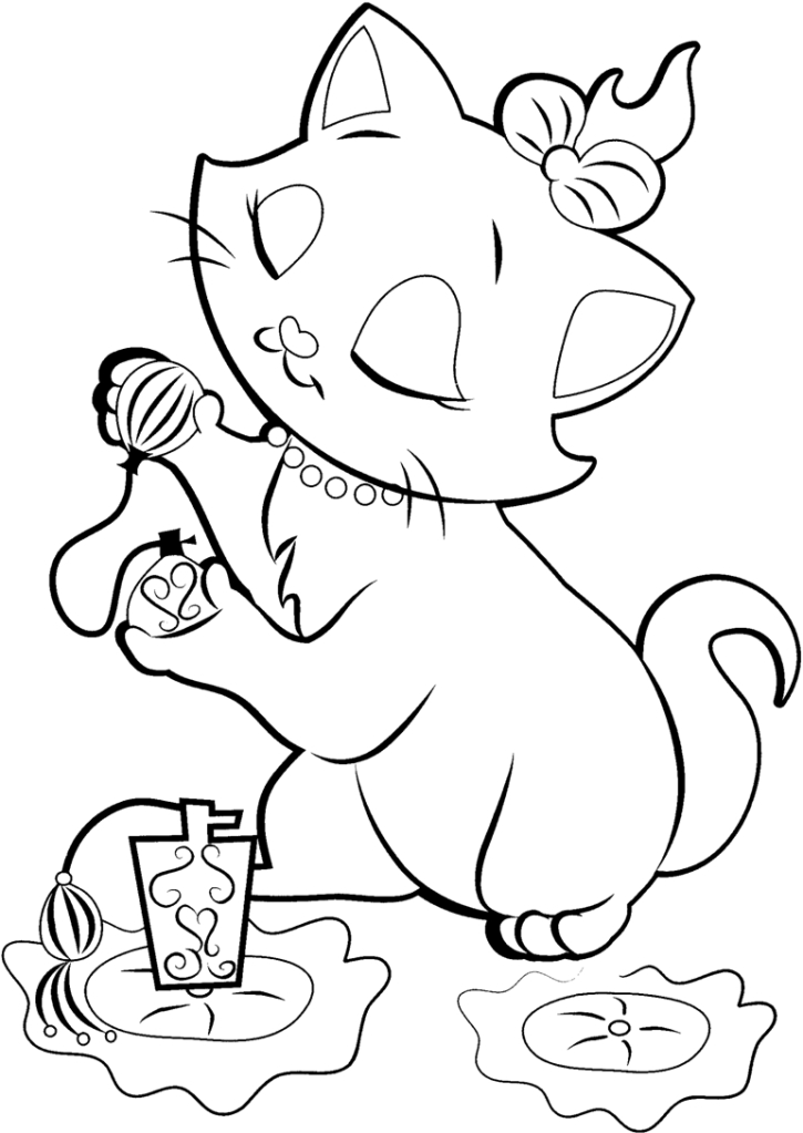 disney coloring pages - artistocats coloring pages