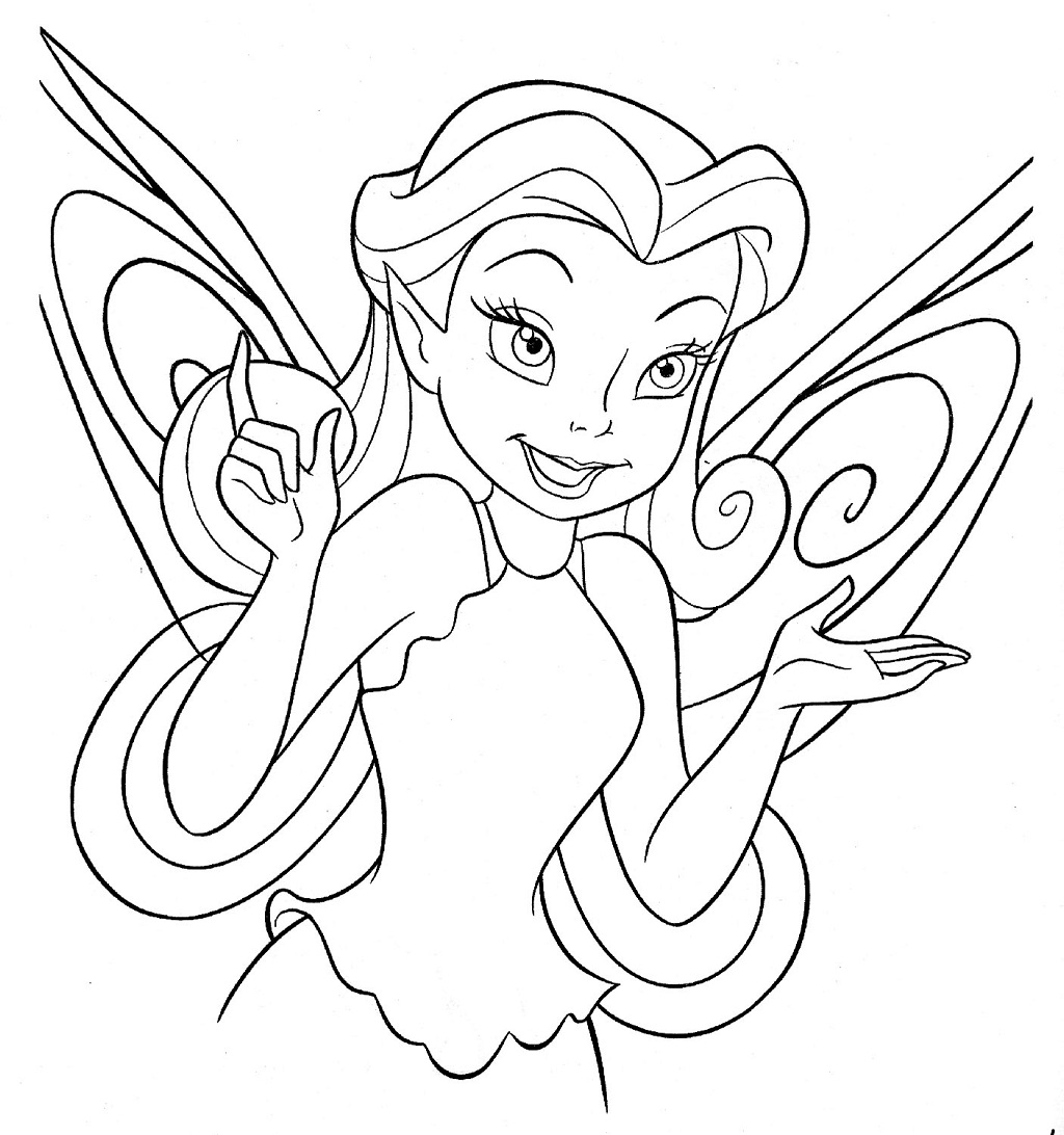 disney coloring pages - disney fairy coloring pages