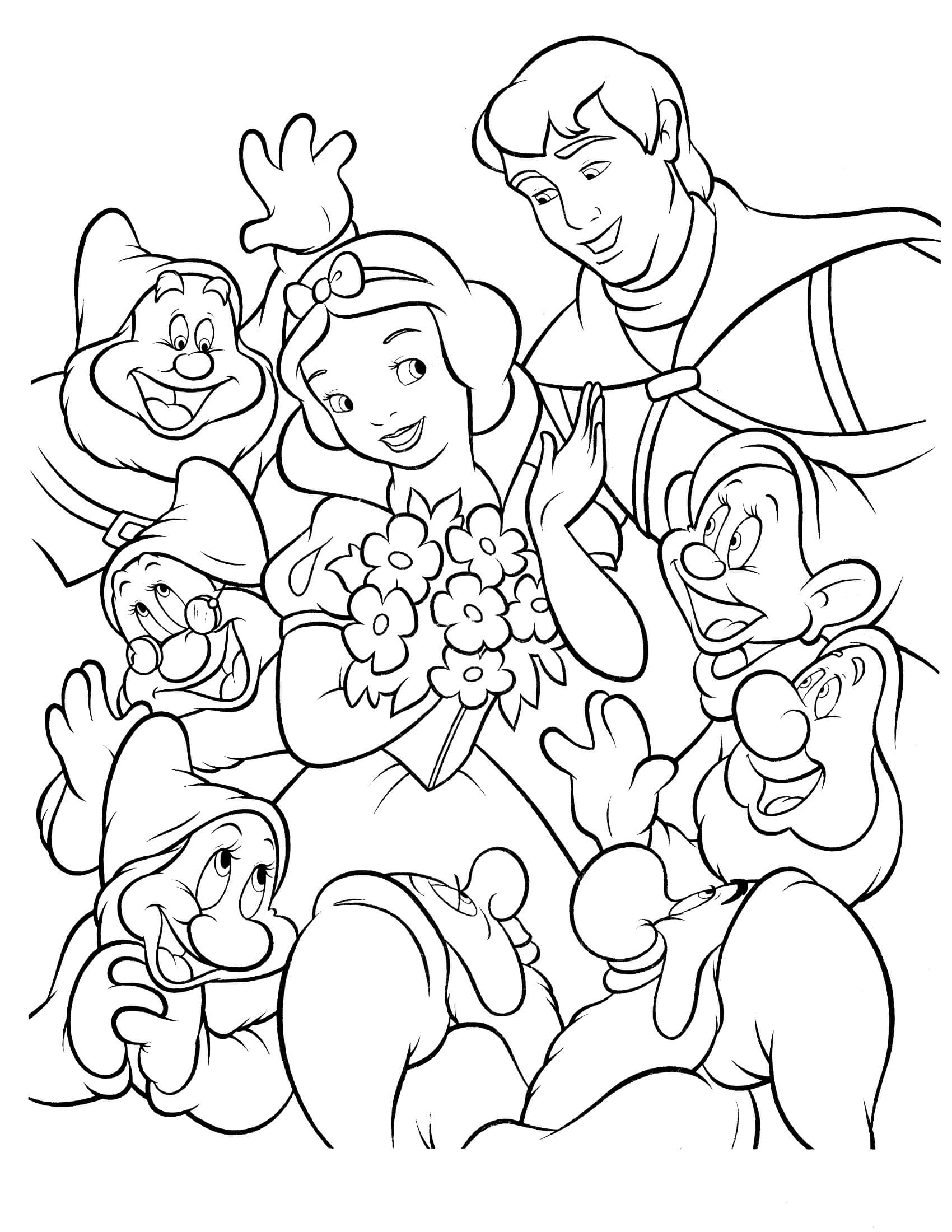 Disney Coloring Pages for Adults - Snow White 16 – Coloringcolor