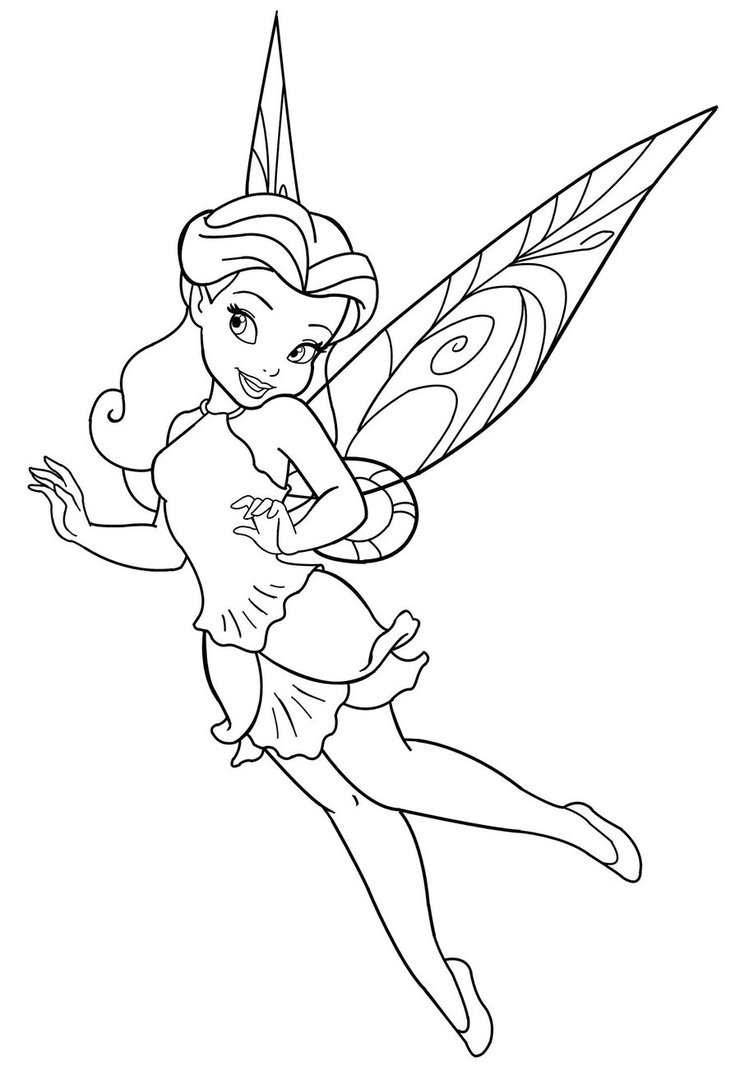 disney fairies coloring pages - 123