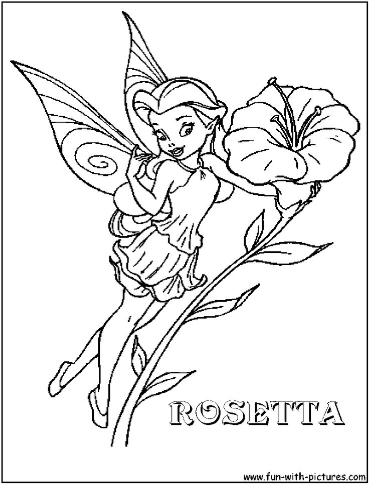 disney fairies coloring pages -