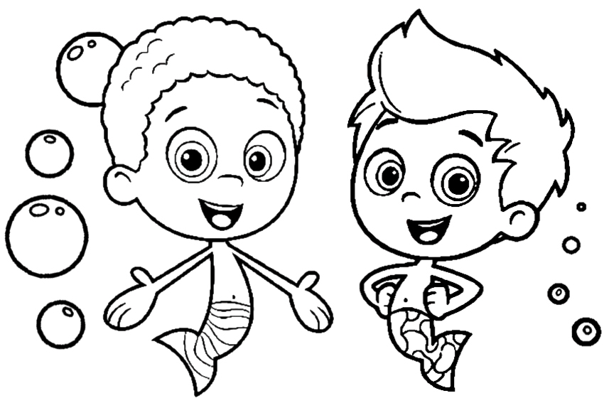 disney jr coloring pages - bubble guppies coloring pages