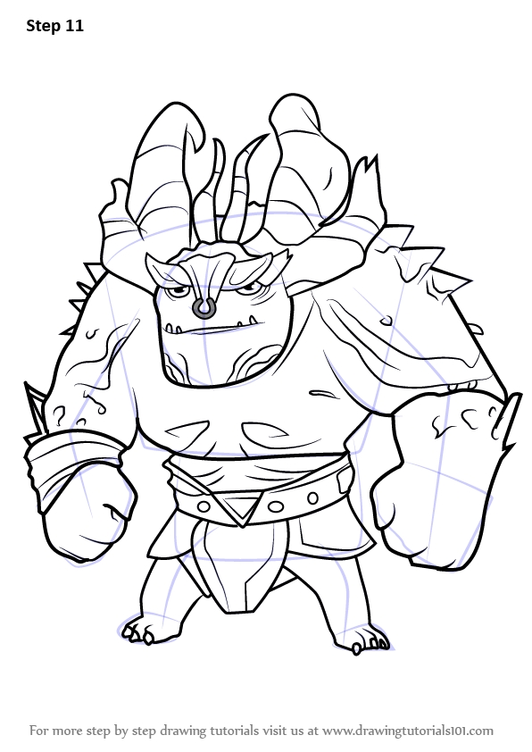 disney jr coloring pages - how to draw draal the deadly from trollhunters