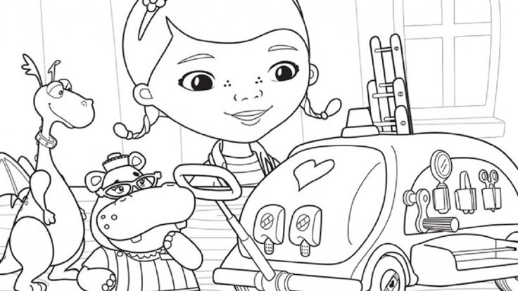 disney junior coloring pages -
