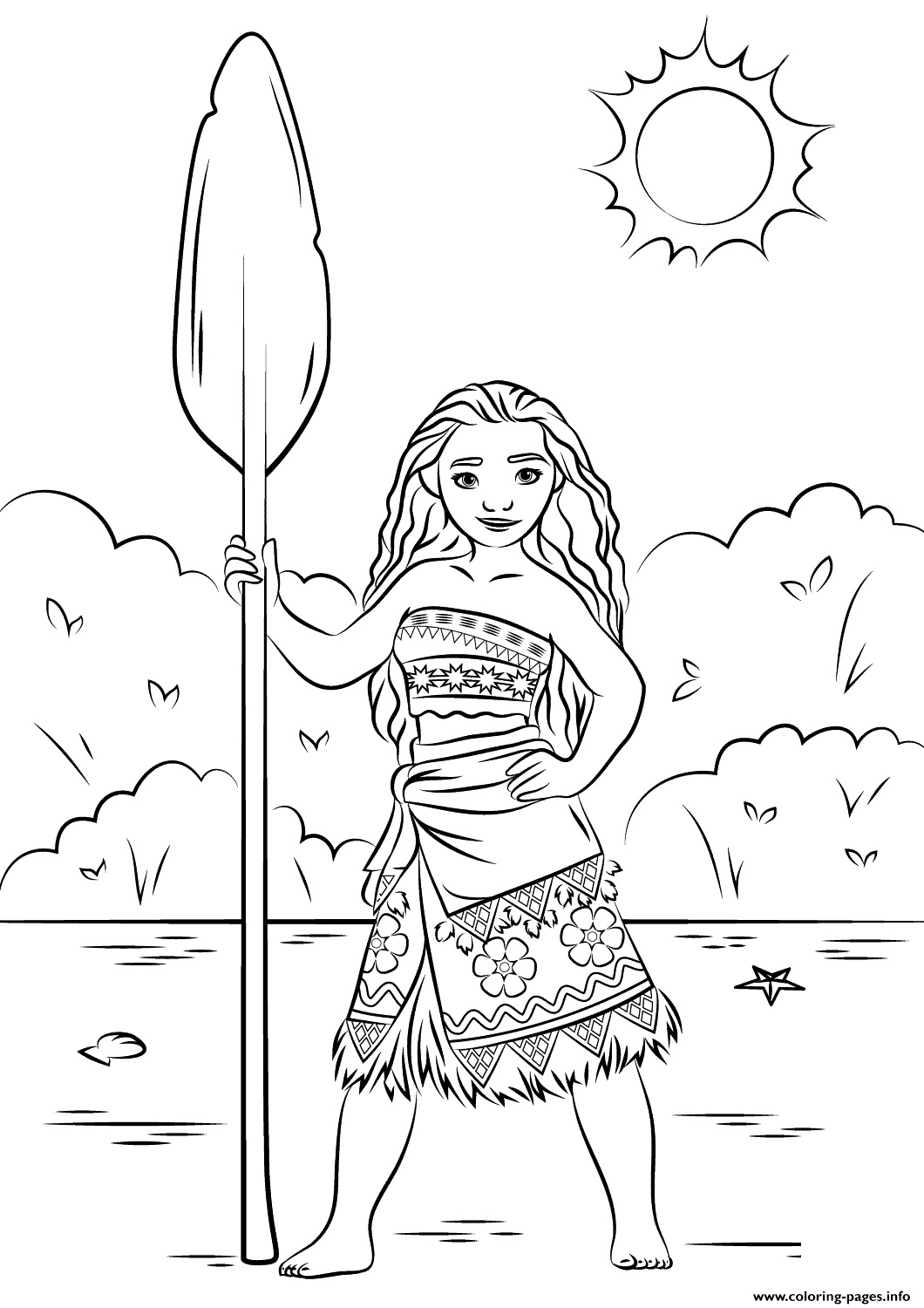 graphic relating to Free Printable Moana Coloring Pages named 24 Disney Moana Coloring Webpages Collections Free of charge COLORING
