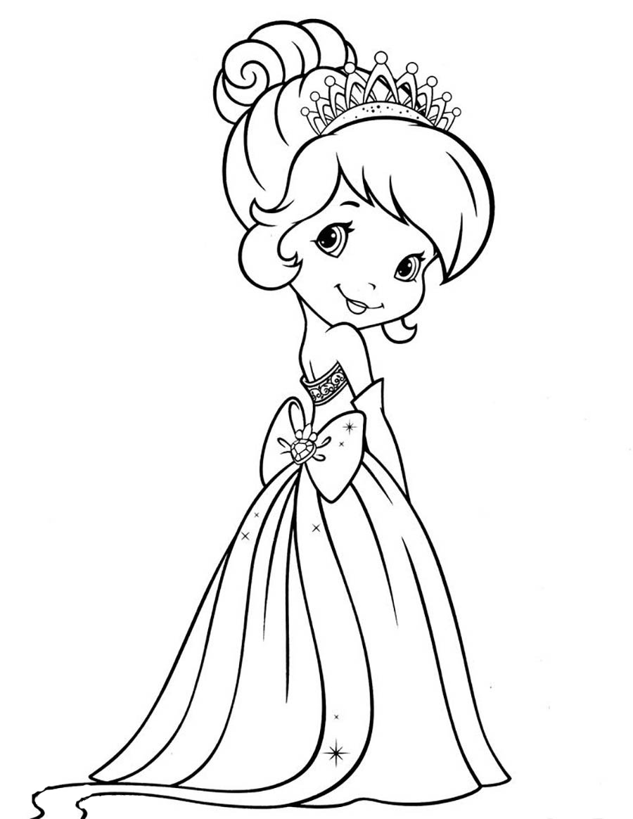 disney princess coloring pages - raskraska devochka v plate