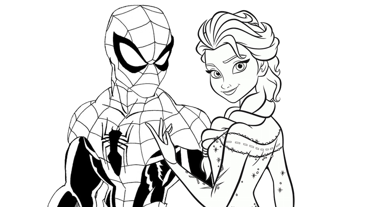 Disney Princess Coloring Pages - Enjoy This Free Disney Spiderman Vs Elsa Coloring Page and