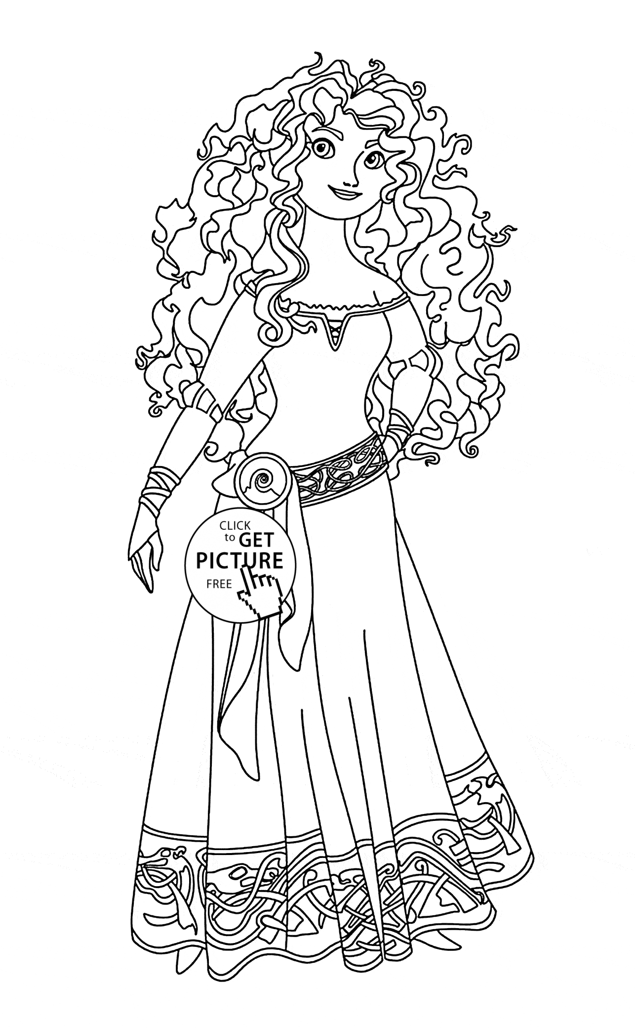 disney princess coloring pages free to print - brave merida coloring page for kids disney princess coloring pages printables free
