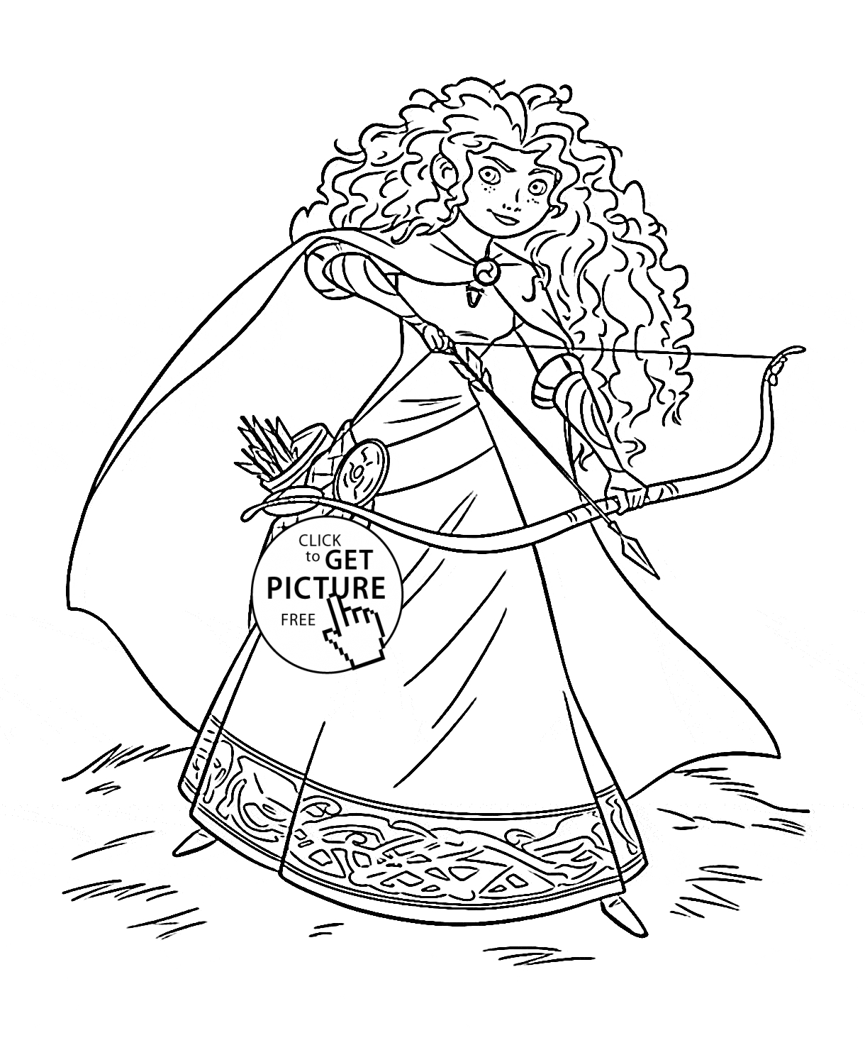 disney princess coloring pages free to print - brave princess merida coloring page for kids disney princess coloring pages printables free