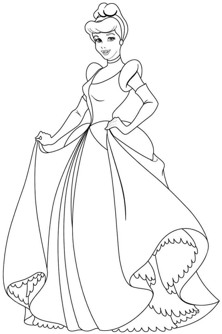 disney princess coloring pages free to print - disney princess coloring pages to print