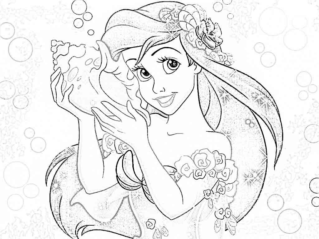 Disney Princess Coloring Pages Free to Print - Disney Princesses Coloring Pages Ariel Coloring Home
