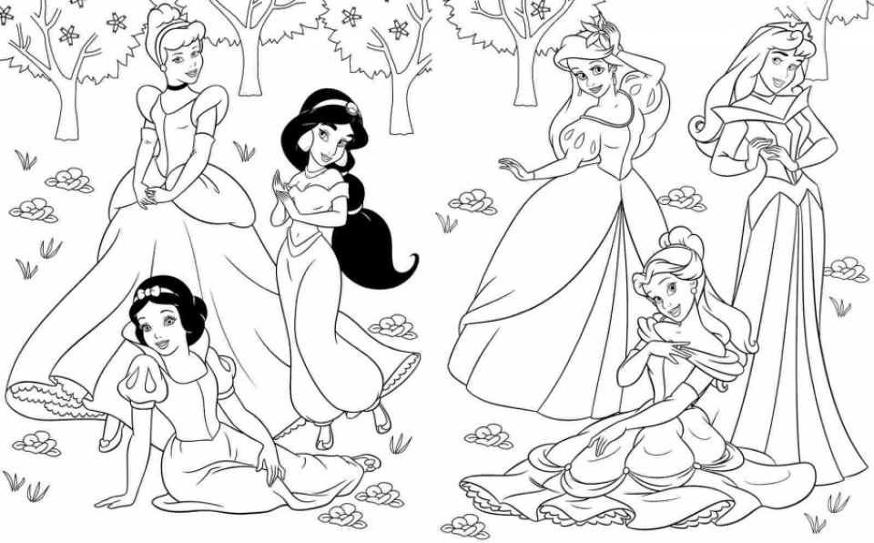disney princess coloring pages free to print - free disney princess coloring pages to print