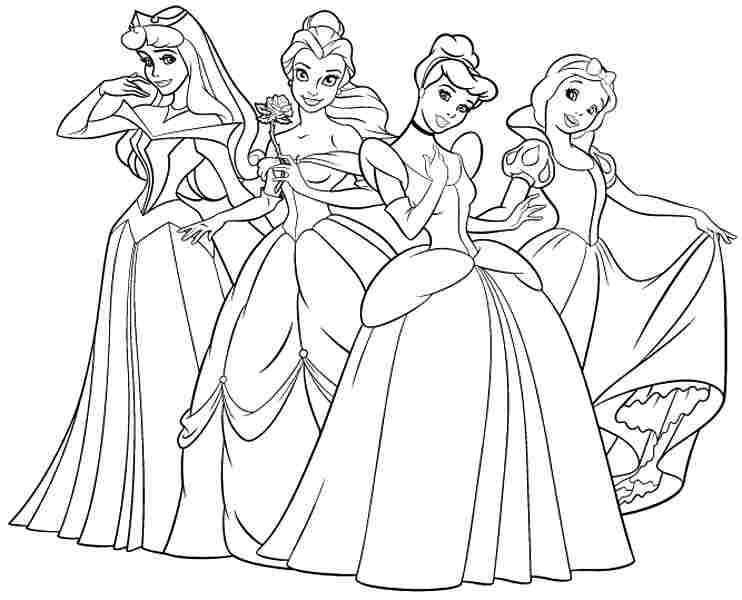 disney princess coloring pages free to print - free coloring media