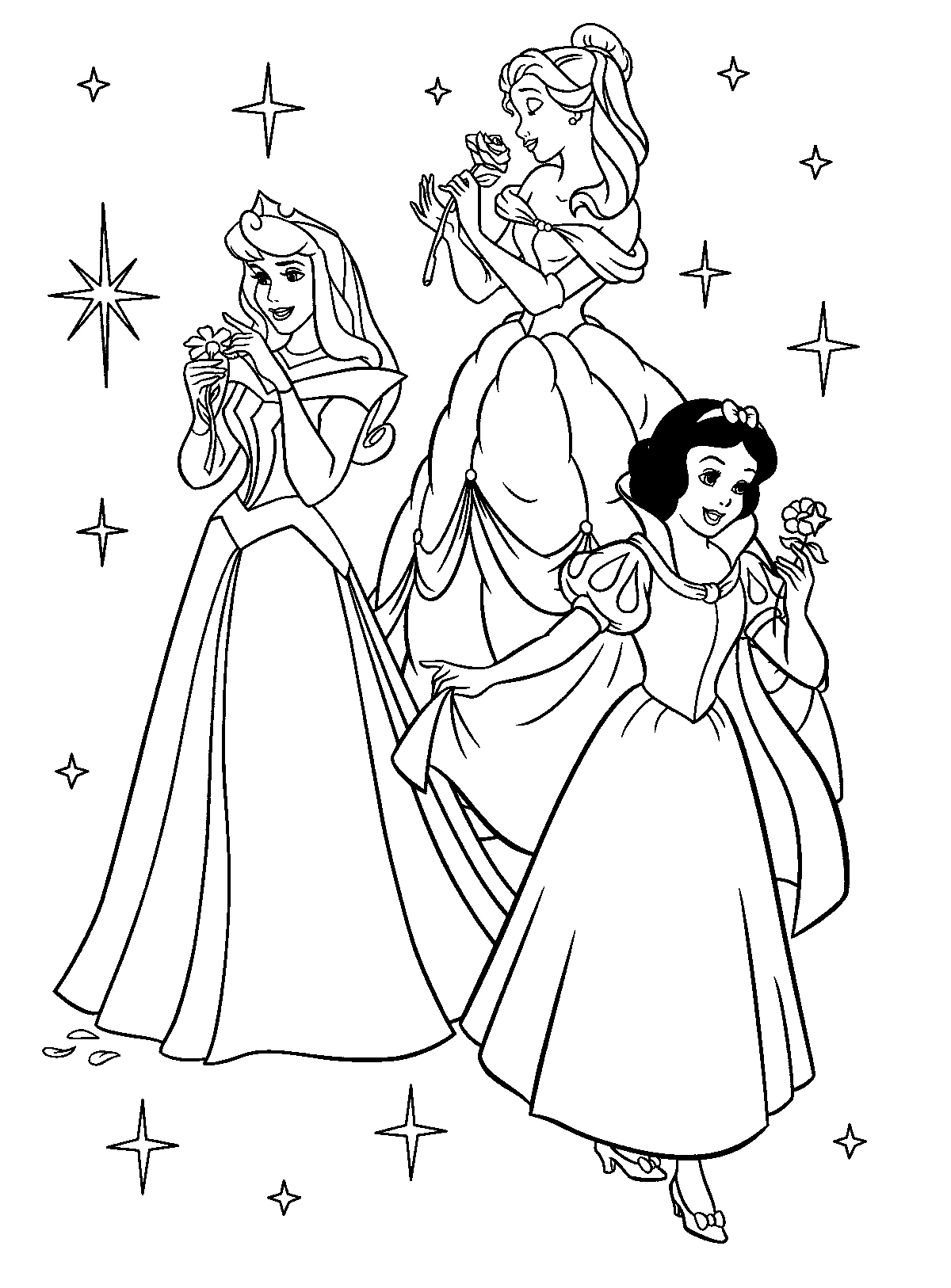 disney princess printable coloring pages - disney princess coloring pages