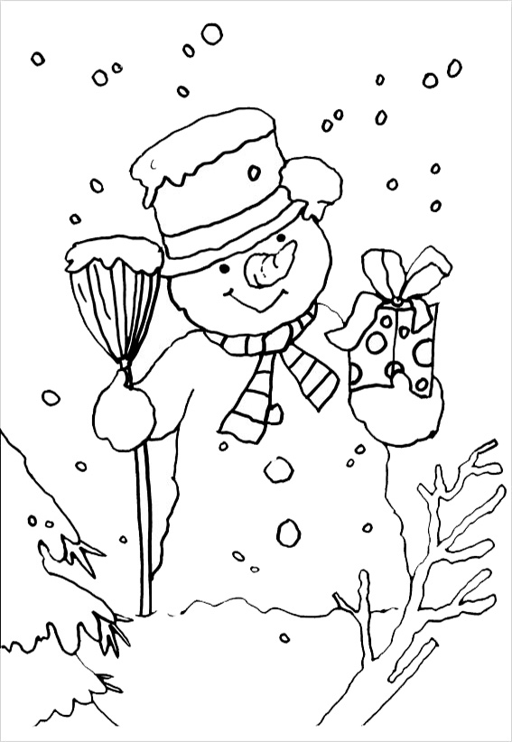 Disney Printable Coloring Pages - Ausmalbilder Schneemann 20