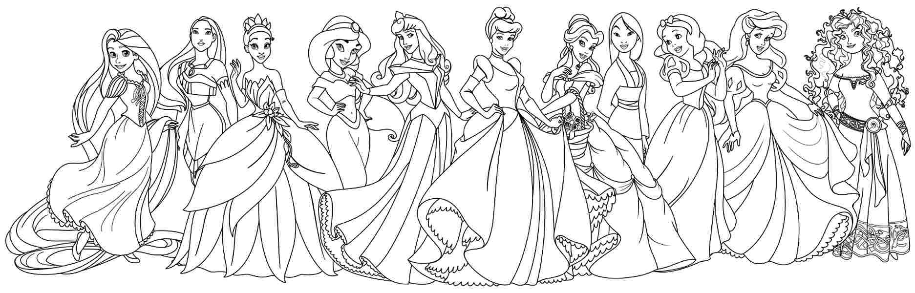 disney printable coloring pages - coloring pages every disney princess all disney princess coloring pages freewebs coloring